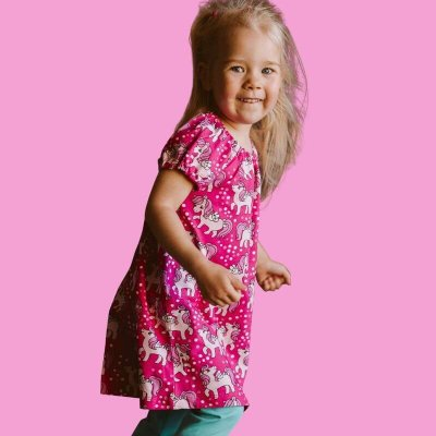 CHILDREN'S SHORT SLEEVE DRESSES