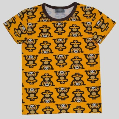 Short Sleeve Shirt, monkey yellow