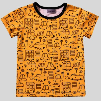 Short Sleeve Shirt, cars yellow