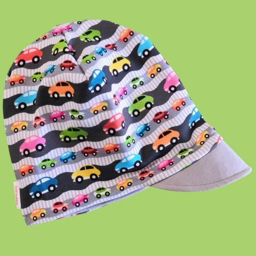 Beanie cap, little cars