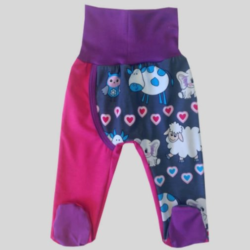 DUUO Footed Pants, animals grey
