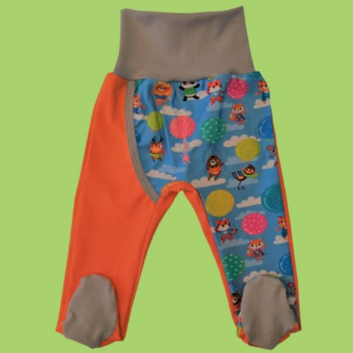 DUUO Footed Pants, animals with balls