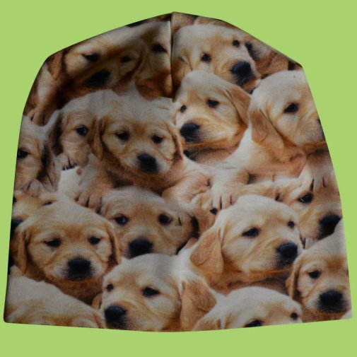Wrinkled beanie for kids, Puppies