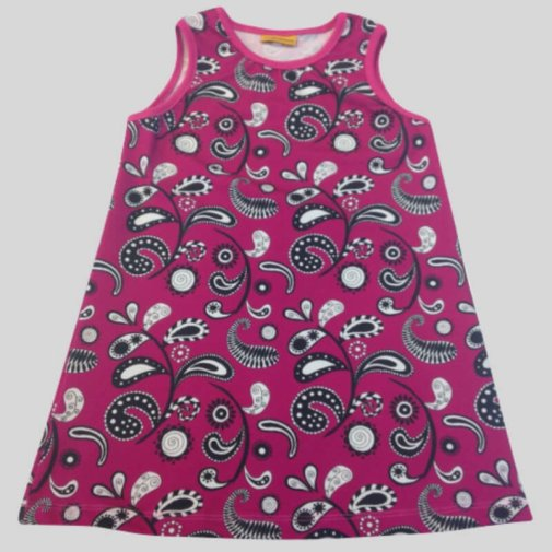 Sleeveless dress, Paisley pink