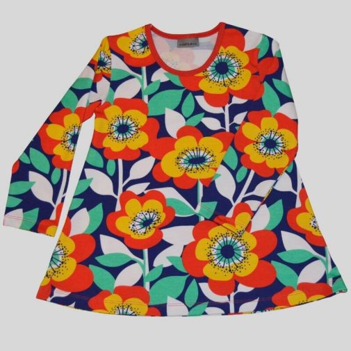 Tunic, Generous Fit For Kids, big flower