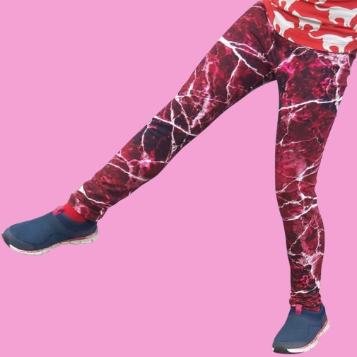 Leggings, Marmor red