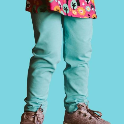 Leggings, Generous Fit For Kids, mint