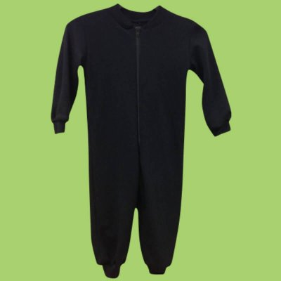 Merinowool coverall, black