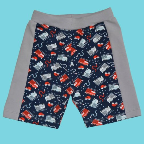 Shorts, fire truck blue