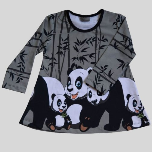Tunic, Generous Fit For Kids, panda grey