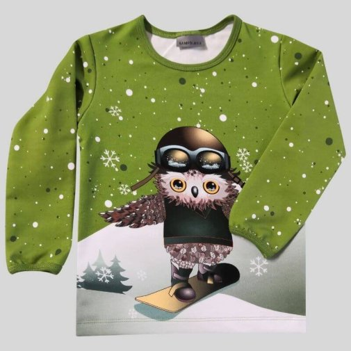 Long Sleeve Shirt, owls-skate