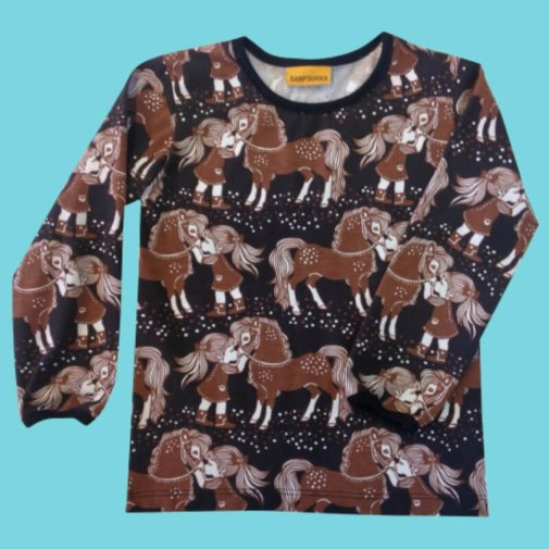 Long Sleeve Shirt, Ponies Brown