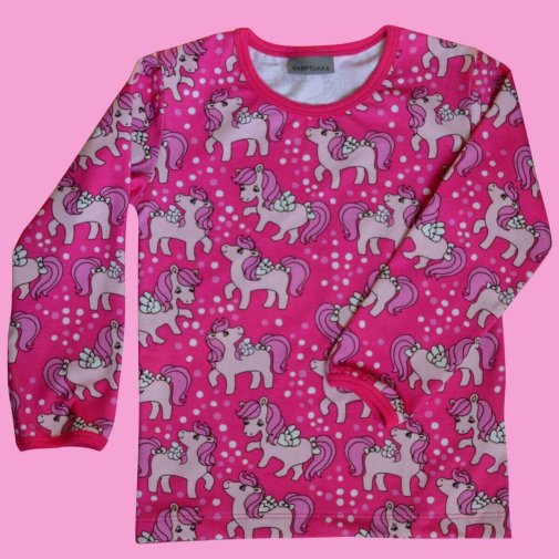Long Sleeve Shirt, Lovely ponys pink