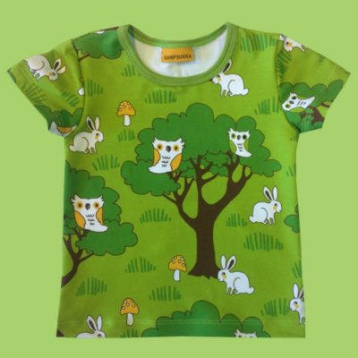 Short Sleeve Shirt, bunnies forest