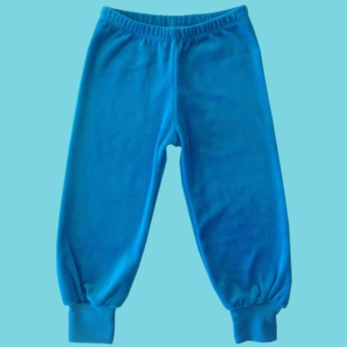 Pants, velour, turquoise