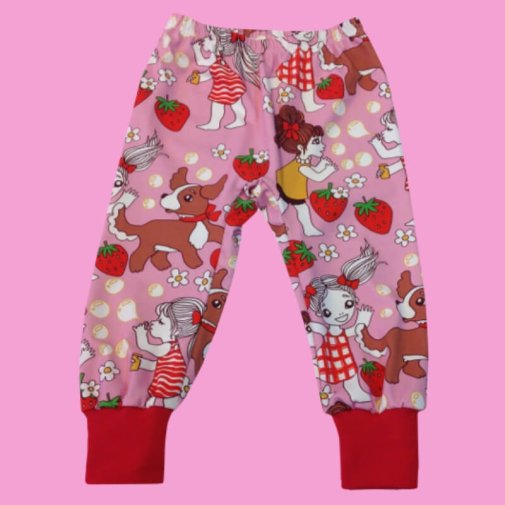 Toddler Pants, girls with strawberries